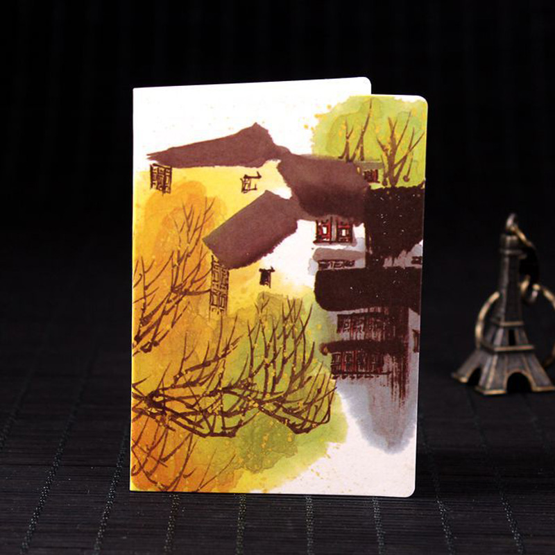4pc Set DIY Vintage Chinese Ink Painting Coloring Festival ...