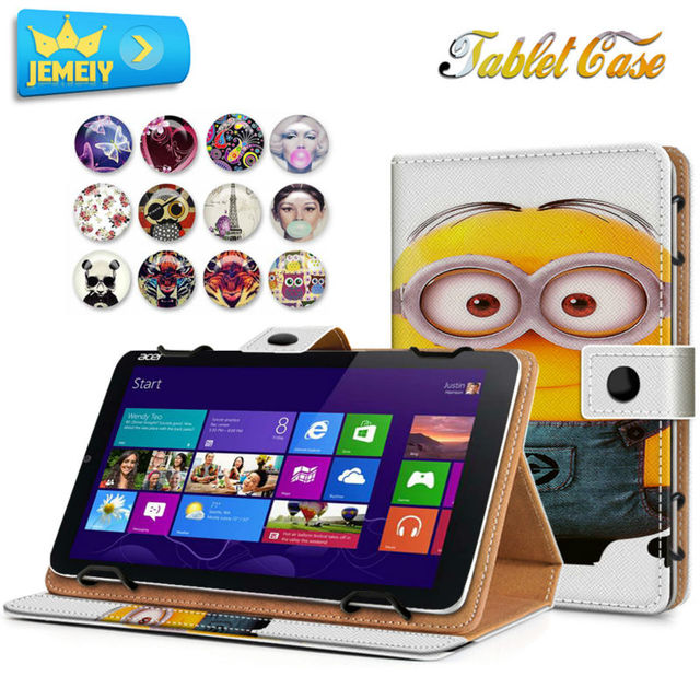 10.1inch Leather tablet case For Acer Iconia Tab A500 /Alcatel Onetouch pixi 3 Universal Cover,Printed Stand case For Acer