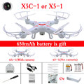 Cheapest X5C-1 RC Helicopter 2.4G 4CH 6-Axis Drone With 2.0MP HD Camera X5C Quadcopter and DM005 X5 without camera Dron Toys