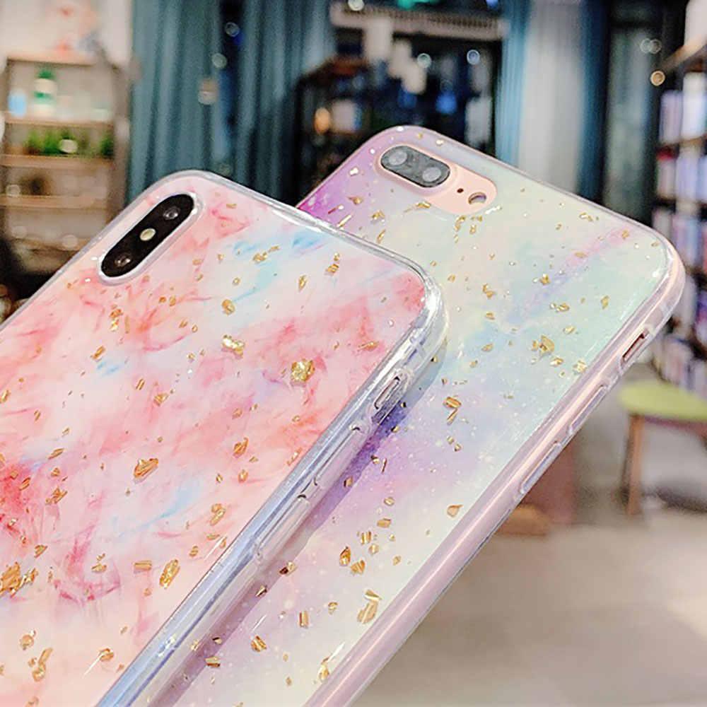 KISSCASE Luxe Gouden Folie Bling Case Voor iPhone 7 Plus 7 8 Case voor iPhone 8 7 6S 6 plus 6S Plus XS Max XR XS X Capinhas Coque