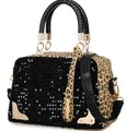 2015 Hot sale! Free Shipping Leopard sequins handbag Bone grain tide bucket woman handbag fashion restoring shoulder bag