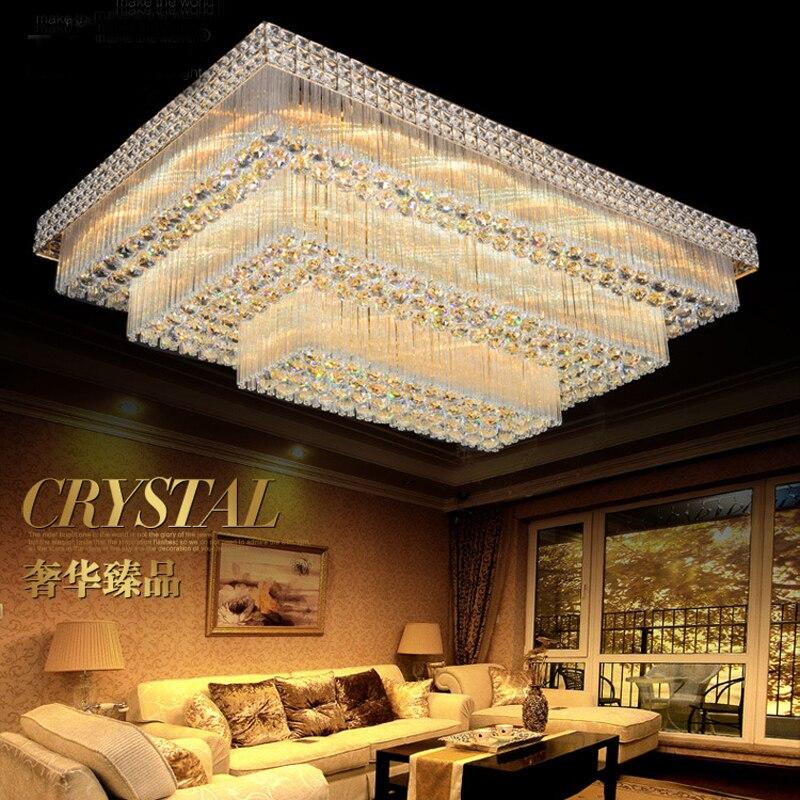 Plafond moderne à LEDs lumières plafonnier encastré cristal lumière 90-265 V Surface monté lampe à LED éclairage cristal