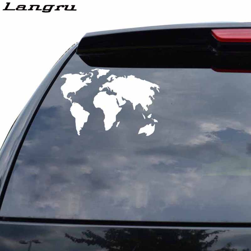 Langru World Map Personality Fashion Decor Decal Car Sticker Vinyl Graphical Jdm(China)