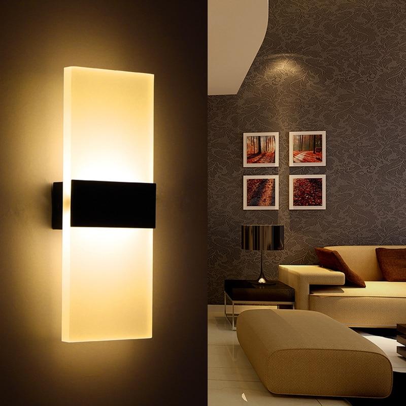 Led Acrylic Bedside Wall Lamp Corridor Wall Mounted Sconce ... on Wall Mounted Decorative Lights id=76891