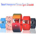 New X6 Smart Bracelet Heart Rate Monitor Bluetooth Smartband transparent  Screen Sport Wristband Fitness Tracker for Android iOS