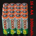 16 Pieces NiMH AA 1.2V GP1000mAh Rechargeable NI-MH Battery  bateria recargable gp 1000mAh AA battery pilha recarregavel