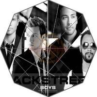 Estilo de música guarda-chuva projeto Backstreet Boys espelho quebrado 43.5 polegada 3 Fold Umbrellas