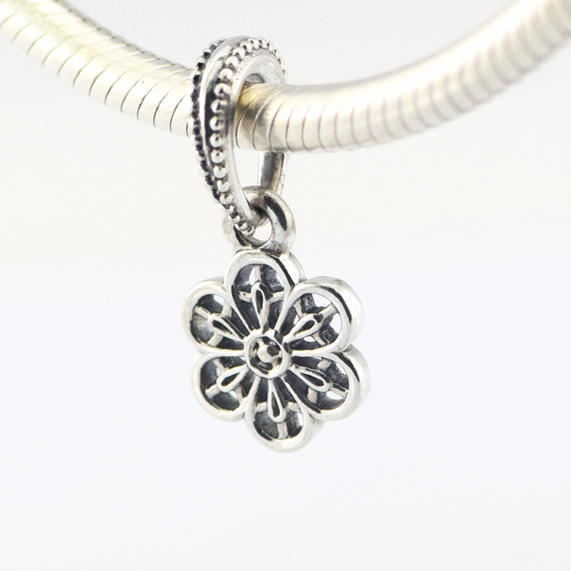 76605a094 Fits Pandora Charms Bracelets 925 Sterling Silver Jewelry Floral Daisy Lace  Beads Free Shipping