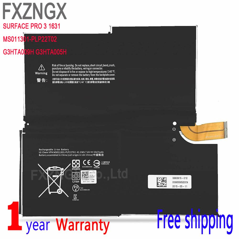 FXZNGX Surface Pro 3 Portable Computer Battery For Microsoft Surface Pro 3 1631 1577 9700 MS011301 PLP22T02 G3HTA005H G3HTA009H