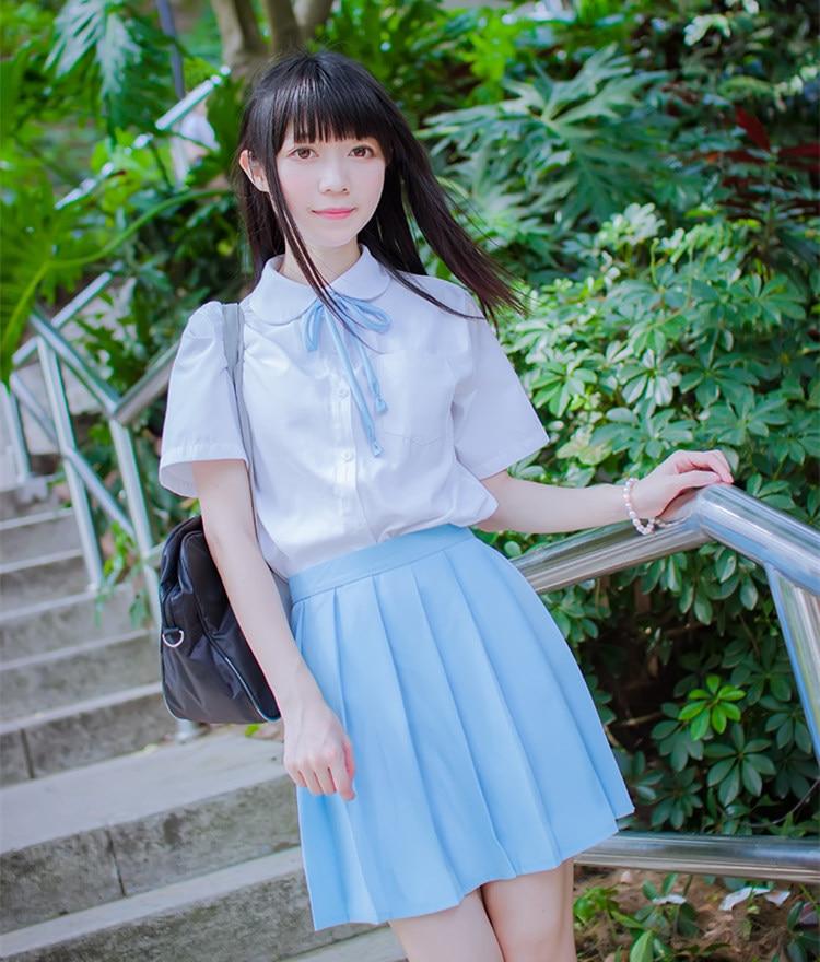 S 2Xl Summer College School Pleated Skirt High Waist Women -6486