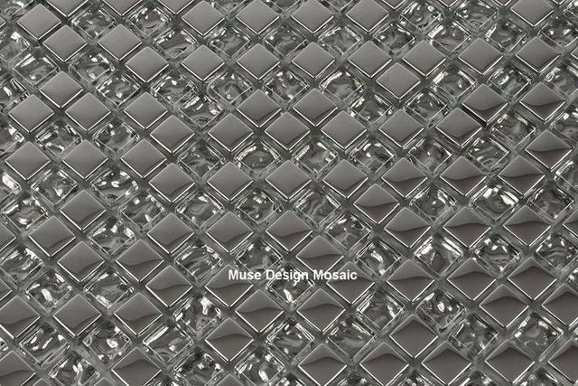 Glasmozaiek Voor Badkamer : 8mm zilver plating wit kristal glasmozaïek voor woonkamer keuken