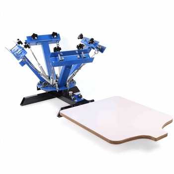 4 Color 1 Station Silk Screen Printing Siebdruck Shirtdruck Machine Printer manual flatbed screen printer machine price flat screen print manual screen printer hand screen printing machine