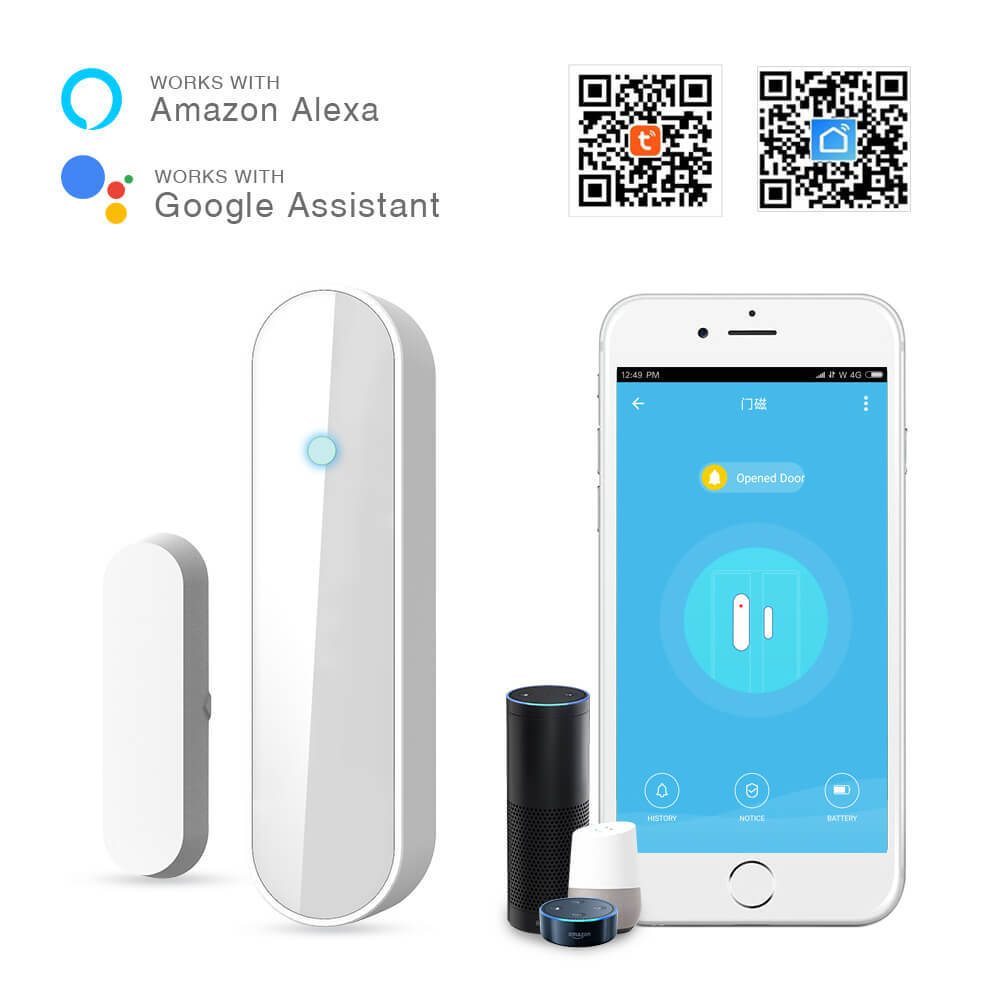 Wifi Intelligent Door And Window Alarm  Magnetic  Anti-theft  APP Remote Monitoring  Open  Notification