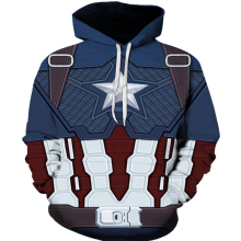 Avengers 4 Endgame Captain America Clothes Hat Men's Hooded Sweatshirt Streetwear Steven Rogers Hooded Jacket Jacket Top