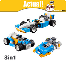 LEPIN 3in1 Extreme Engines 24039 Creator Technic Racing Car 122PCS DIY Building Blocks Bricks toys for children compatible 31072