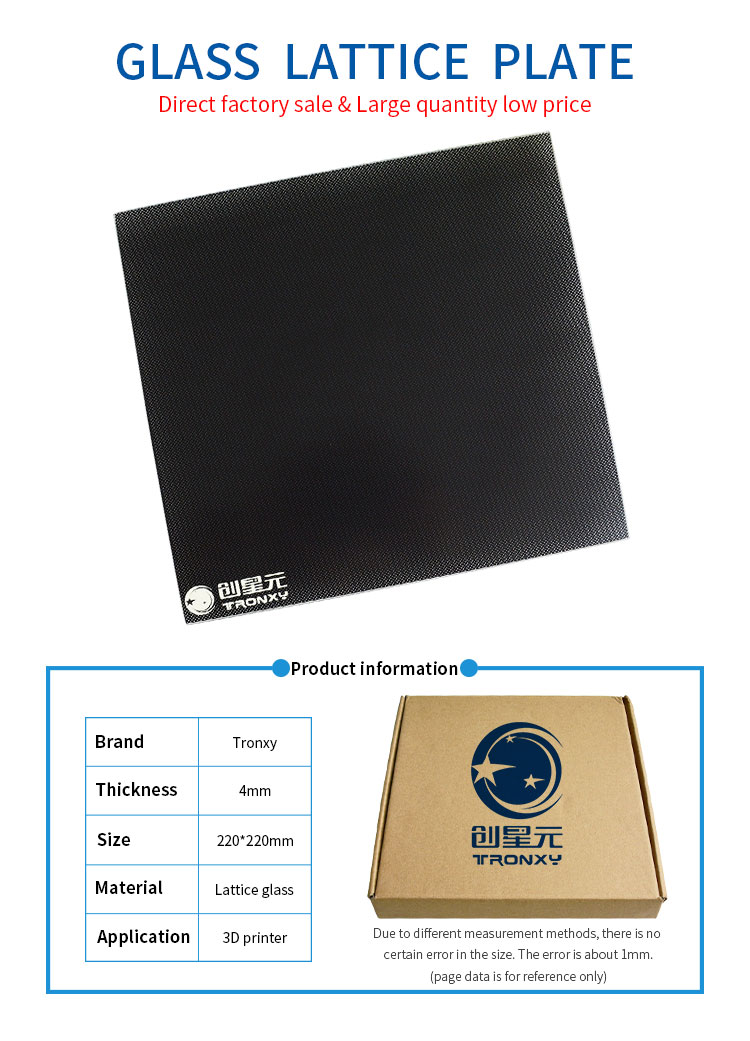 330mm x 330mm Borosilicate Glass Plate Bed Flat Polished Edge for 3D Print GO-3D PRINT