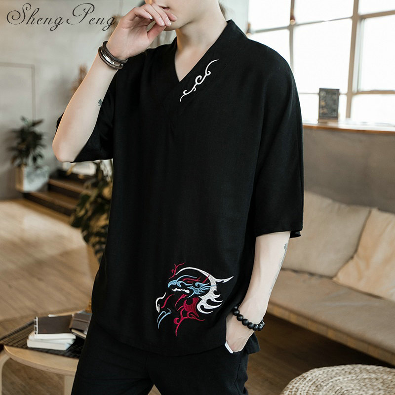 Traditional chinese clothing for men chinese shirt style clothing summer style chinese garment chinese short sleeves