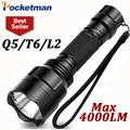 Led Flashlight 4000 Lumens Max CREE L2 T6 Q5 Flashlight Waterproof LED Torch lanterna Camping Hunting lampe de torche ZK93