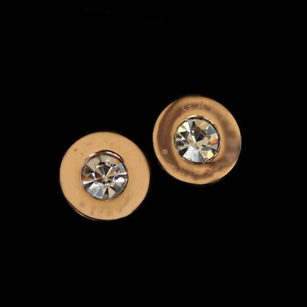 Vintage luxury jewelry gold piercing stud earrings for women men