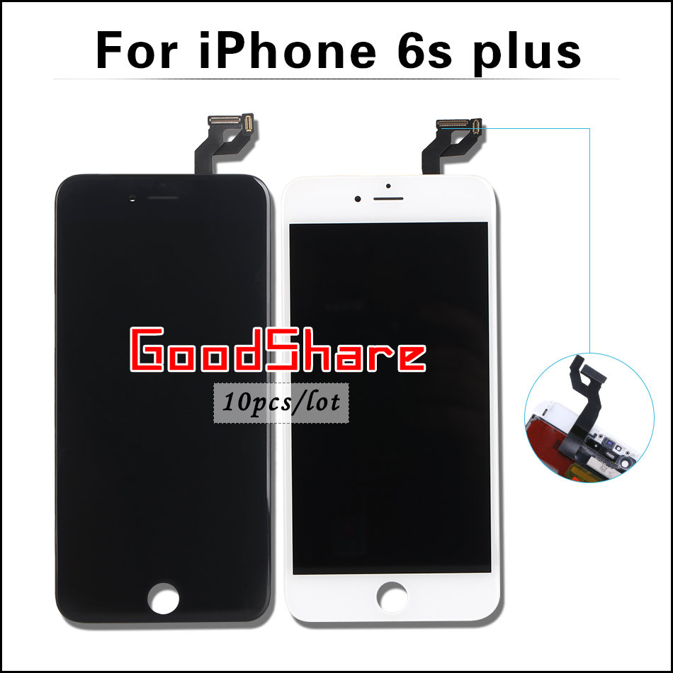 10 PCS/LOT AAA & No Dead Pixel For iPhone 6s plus LCD Display Complet Touch Screen Digitizer Assembly Replacement Free DHL Ship