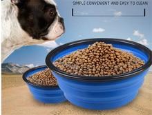 E28 დიდი დასაკეცი pet თასმები სილიკონის Bowl pet დასაკეცი პორტატული ძაღლი თასი ძაღლი სასმელი წყლის შესანახი საკვები თასი