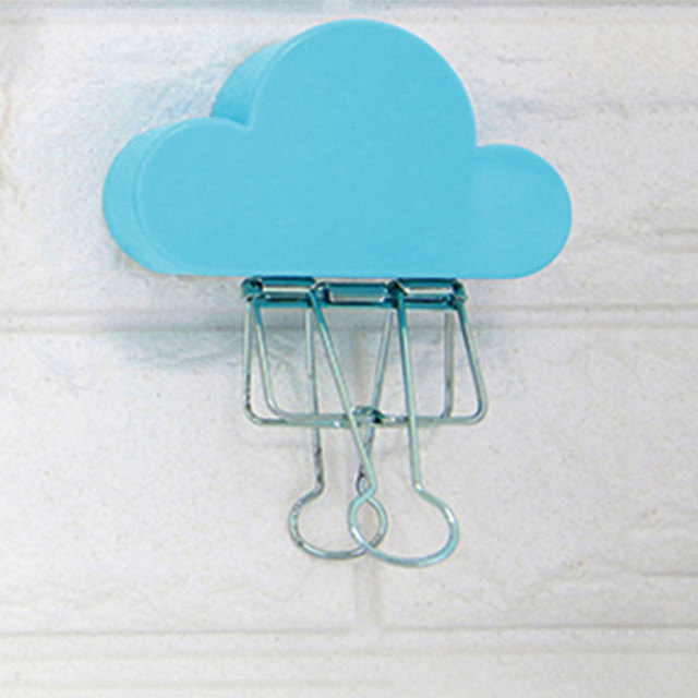 Key Holder Cloud Shape Ultra Light Blue Creative Magnetic Magnets Wall  Shelf Hanging Key Holder
