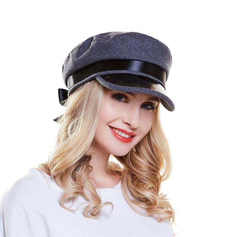 Moda sombrero de lana primavera otoño Retro de las mujeres sombreros de  calle Casual del Snapback 13aad305d78