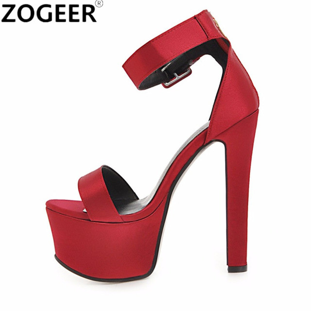 c8eabd2e0add Plus Size 48 Summer Fashion Women Sandals Sexy Extreme High Heels 16CM  Sandal Platform Luxury Party Wedding Evening Shoes Woman