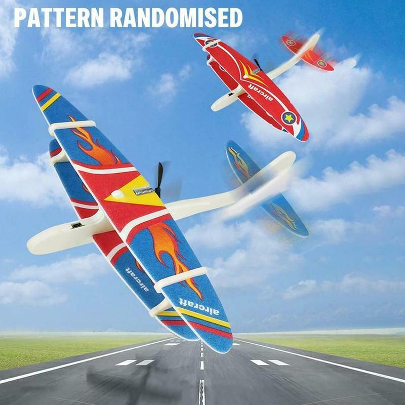 EPP Foam Hand Throw Airplane Outdoor Launch Glider Plane Kids Gift ^D0E