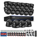SANNCE 1080N Video 1080P HDMI out 16CH AHD DVR with 16x 800TVL Dome Outdoor IR Security Camera System