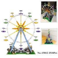 H & רחוב עיר HXY במלאי 2518 יחידות 15012 גלגל ענק דגם בניין ערכות lepin בלוקים צעצוע DIY תואם עם 10247 מתנות