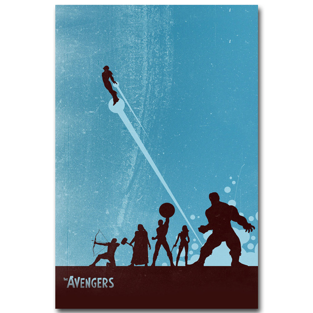 Avengers 2 Age Of Ultron Art Silk Poster Minimalism Print Superheroes Movie Picture For Room Wall Decor Iron Man Hulk Thor 002