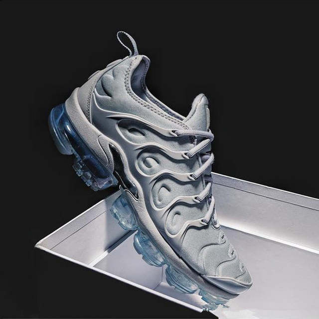 e7751f33d9 Online Shop free shipping New 2018 Air Vapormax Plus Tn Plus Olive In  Metallic White Silver Colorways Mens Shoes For Running Pack Men Shoes    Aliexpress ...