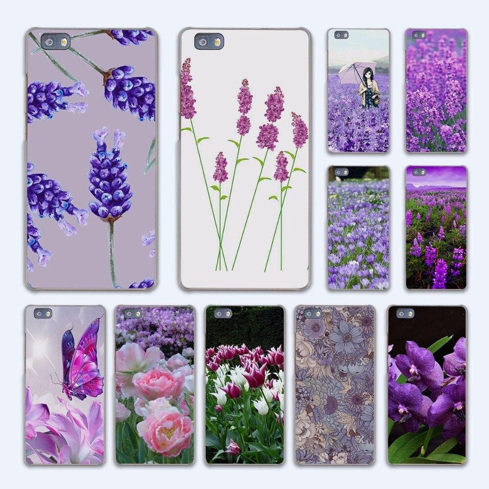 Cute Little Girl lavender field design hard transparent Case Cover for Huawei P10 P8 P9 lite P7 Mate 7 8 Mate9 Mate S