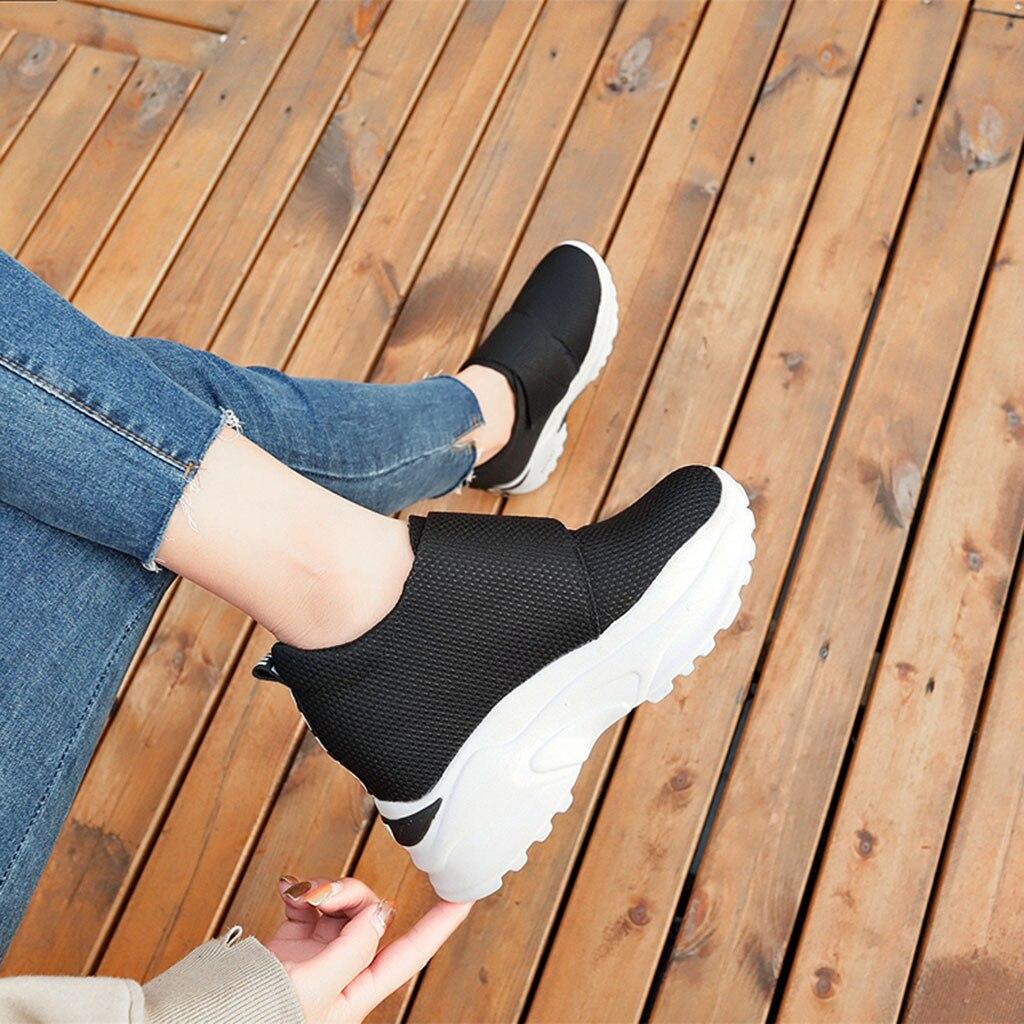Mujeres Deporte Las Plataforma Xiniu Solos Nuevas Redonda Zapatos Punta Zapatillas Gruesa 2018 rojo Superficial Negro Casual Moda Señora De Dama wtFxFq56