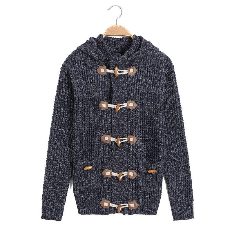 Invierno exterior de algodón chaqueta de punto con capucha patrón ...