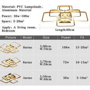 Image 5 - Moderne Led deckenleuchte Schwarz & Weiß Kronleuchter Decke Lampe LED Leuchten wohnzimmer Schlafzimmer esszimmer Küche Lüster