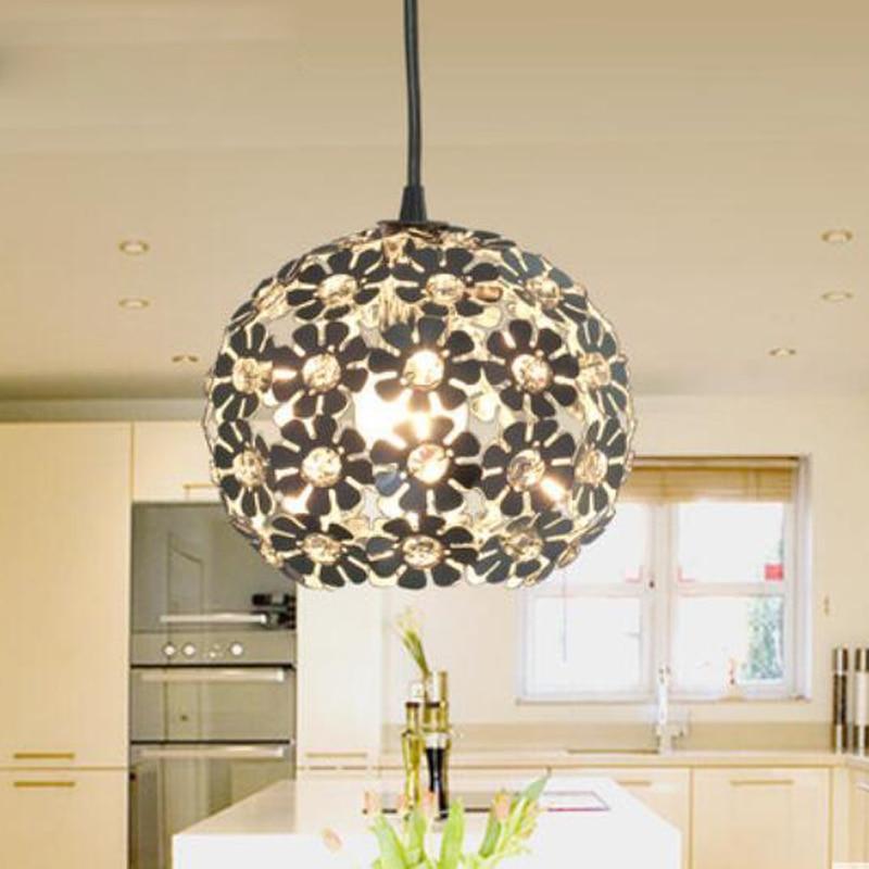 T Flower Circular Pendant Light Creative Bar Lamp For Restaurant Home Living Room Bedroom Fashion Dining Room Lighting