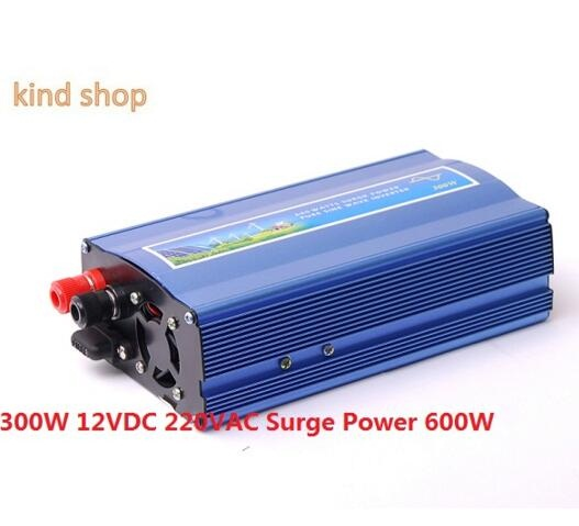 300W off grid inverter, 12V DC to AC220V pure sine wave inverter for small solar or wind power system, surge power 600W 300w pure sine wave inverter 48vdc to 110vac 220vac off grid inverter 300w