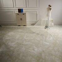 3 M White Ivory Cathedral Length Lace Edge Bride Wedding Bridal Long Veil Velo da sposa