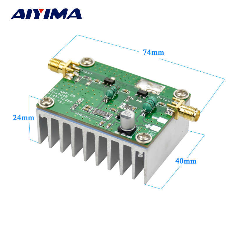 Aiyima 42dB 1Mhz-800Mhz 433Mhz RF UVF Linear Power Amplifier HF FM aiyima 42db 1mhz 800mhz 433mhz rf uvf linear power amplifier hf fm
