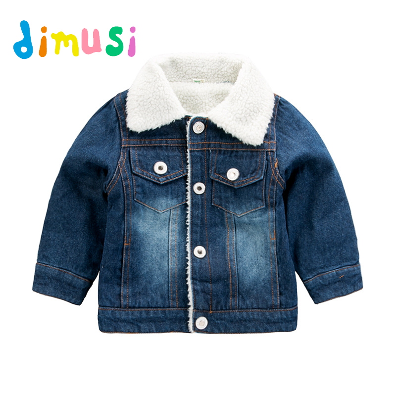 Dimusi Winter denim Jacket boys Jeans Jackets Retro Plus Thick Velvet Denim Jacket kids Tactical warm Windbreaker Jeans Coats пальто
