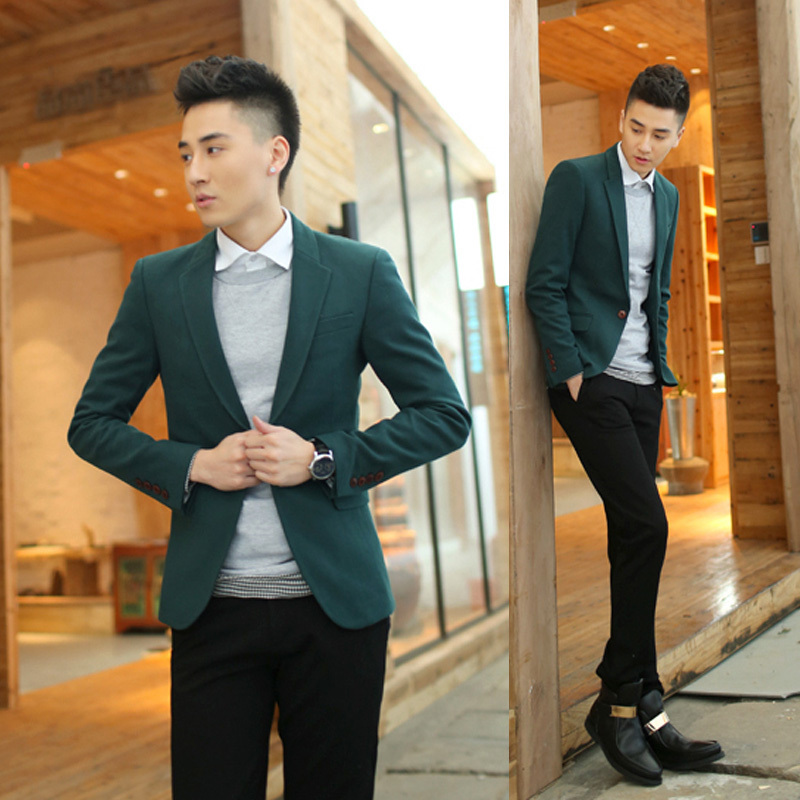 Men Green Blazer - Trendy Clothes