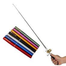 Мини Портативный Тип ручки Удочка из алюминиевого сплава телескопическая удочка карманного размера Удочка уличная Рыболовная Снасть дропшиппинг
