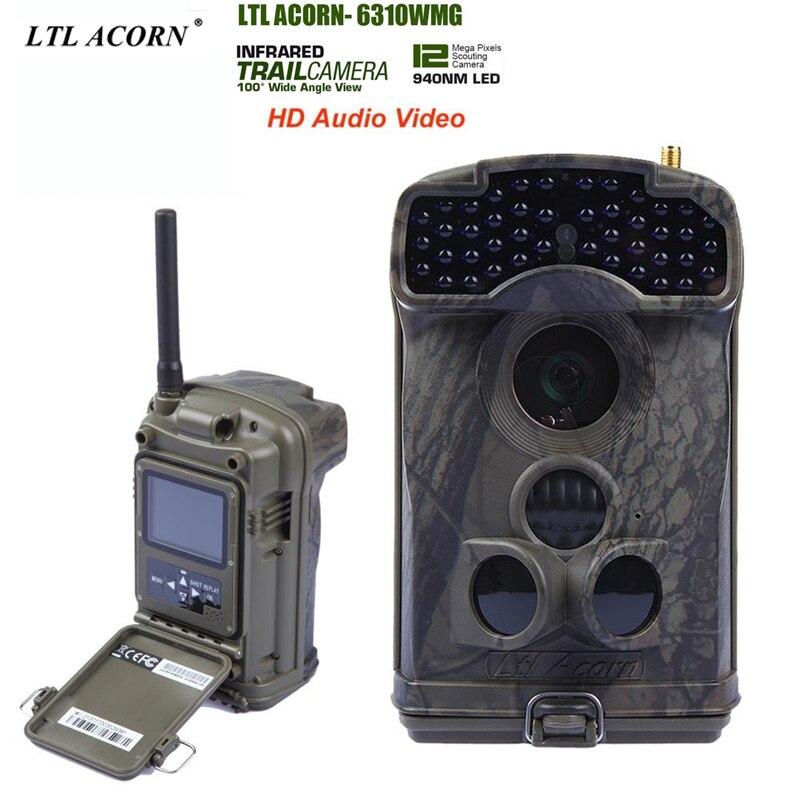 все цены на LTL ACORN 6310MG  photo traps,gsm mms  camera, gsm trail camera  with Remote Control 44pcs LED 940NM HD