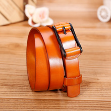 Catelles 2016 new female leahter belts for jeans for dress full grain leather cowhide leather italy leather belt good quality