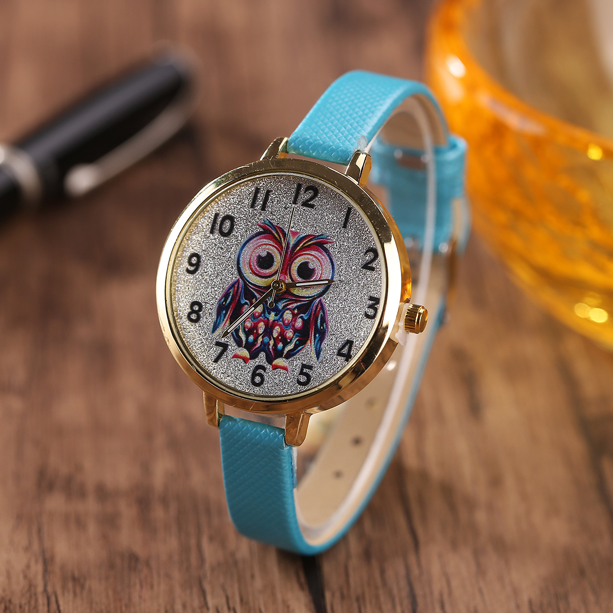 Luxury Women Quartz Watch Children Colorful Cartoon Owl Dial Ladies Leather Watch Women Relogio Feminino Clock стоимость