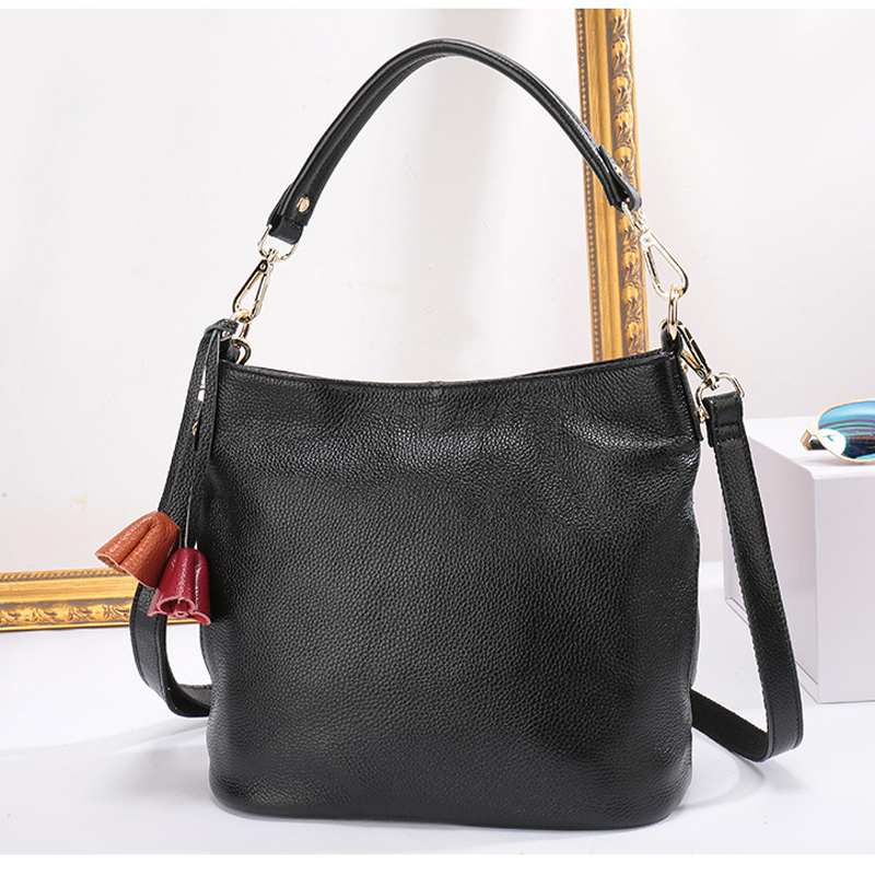 Ladies Tote Luxury Handbag Design Genuine Leather Vintage Bucket Shoulder Crossbody Bags for Women Fashion Casual Messenger bag crocodile retro women bag luxury women design fashion retro leather tote handbag solid bucket bag design fashion bags
