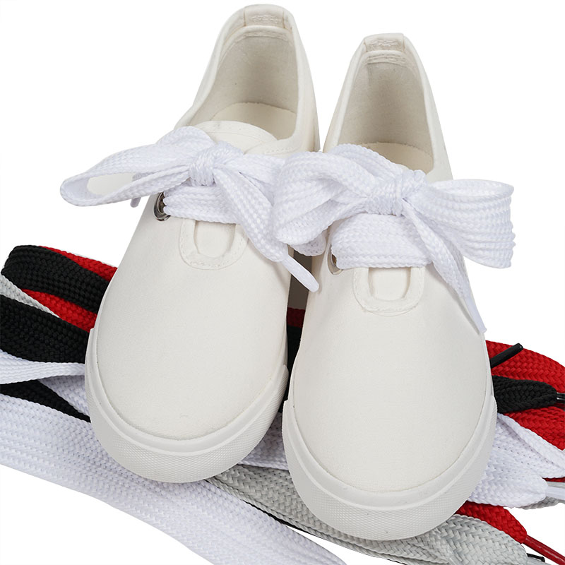 купить Senza Fretta 1pair Shoe Wide Shoelaces Shoestrings Wide Fat Shoe Laces For Sneakers Shoe Shoelaces Novelty Shoelace 110*3 Cm по цене 185.63 рублей