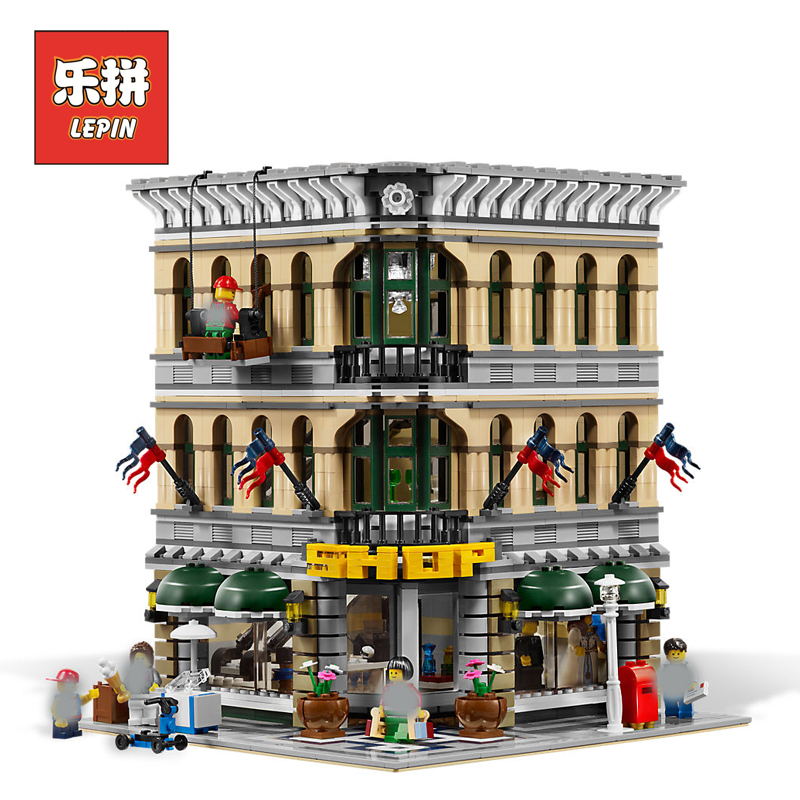 New Lepin 15005 2232pcs City Grand Emporium Model Building Blocks Funny Educational Brick Toys Compatible Legoing 10211 Children classic lele 30004 grand emporium creator architecture building blocks bricks toys diy for children model compatible with 10211